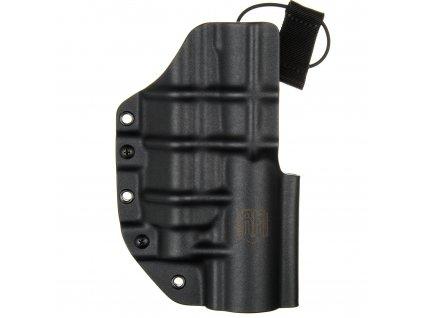 TAC - Glock 17/19 - Glock 19X/45 + TLUMIČ + Streamlight TLR-1/TLR-2 - taktické kydexové pouzdro - černá