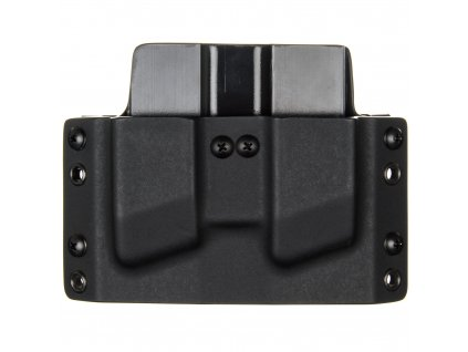 OWB - Glock 43X/48 - vnější kydexové pouzdro na 2 zásobníky - plný sweatguard - černá/černá