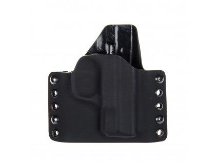 OWB - Smith & Wesson M&P9 SHIELD - vnější kydexové pouzdro - poloviční sweatguard - černá/černá
