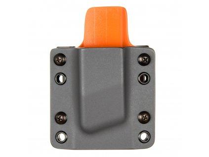OWB - CZ 75 - vnější kydexové pouzdro na 1 zásobník - plný sweatguard - tmavě šedá/oranžová