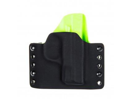 Kydexové pouzdro na zbraň Smith & Wesson M&P9 SHIELD - vnější, černá/zombie zelená