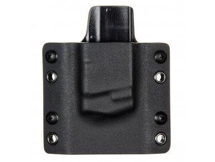 OWB - Glock 36 - vnější kydexové pouzdro na 1 zásobník - plný sweatguard - černá/černá