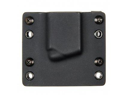 """OWB - Springfield XD-S 3.3"""" .45ACP - vnější kydexové pouzdro na 1 zásobník - bez sweatguardu - černá/černá"""
