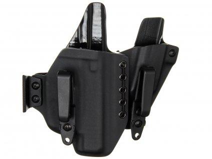 AIWB - Glock 48 + Streamlight TLR-6 + zásobník - appendix vnitřní kydexové pouzdro - plný/plný sweatguard - ns - černá