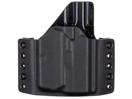 OWB - Glock 43X Rail MOS + Streamlight TLR-6 - vnější kydexové pouzdro - poloviční sweatguard - černá/černá