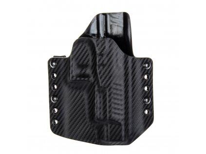 """Kydexové pouzdro na zbraň Walther PPQ 5"""" - vnější, carbon/černá"""
