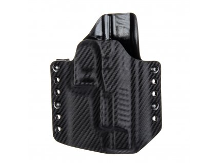 """OWB - Walther PPQ 5"""" - vnější kydexové pouzdro - poloviční sweatguard - carbon/černá"""