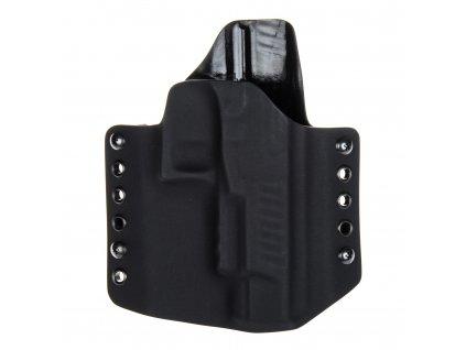 """OWB - Walther PPQ 5"""" - vnější kydexové pouzdro - poloviční sweatguard - černá/černá"""