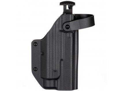 TAC - Glock 17/22/31 + Streamlight TLR-2 - AUTO pojistka - taktické kydexové pouzdro - černá 3 mm
