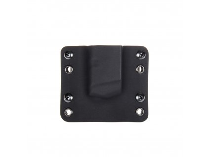 OWB - Glock 17/19/19X/45 - vnější kydexové pouzdro na 1 zásobník - bez sweatguardu - černá/černá