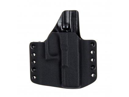 OWB - Glock 20/21 - vnější kydexové pouzdro - poloviční sweatguard - černá/černá