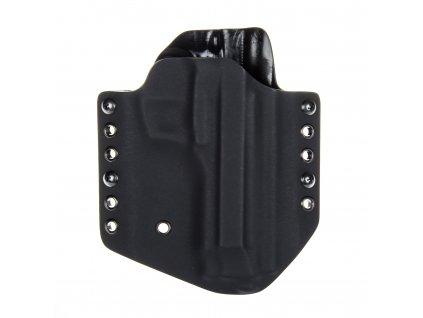 OWB - Beretta 92 FS - vnější kydexové pouzdro - poloviční sweatguard - černá/černá