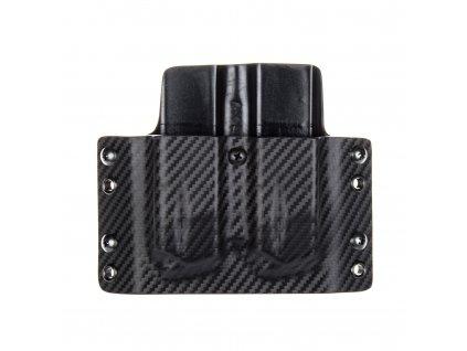 OWB - CZ Shadow 2 - vnější kydexové pouzdro na 2 zásobníky - plný sweatguard - carbon/černá