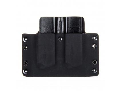 OWB - CZ Shadow 2 - vnější kydexové pouzdro na 2 zásobníky - plný sweatguard - černá/černá