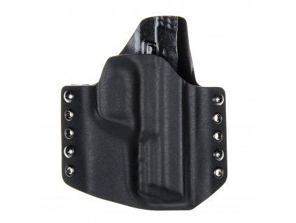 OWB - Smith & Wesson M&P9 - vnější kydexové pouzdro - poloviční sweatguard - černá/černá