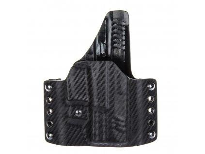 """OWB - Springfield XDM 3.8"""" - vnější kydexové pouzdro - plný sweatguard - ns - carbon/černá"""