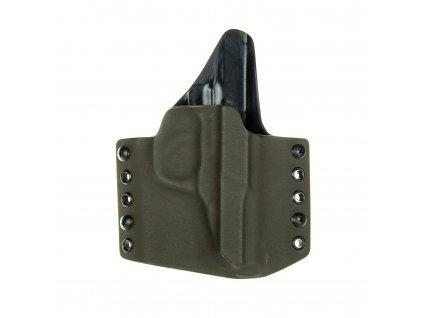 Kydexové pouzdro na zbraň Walther P5 se sweatguardem - vnější, olivová/černá