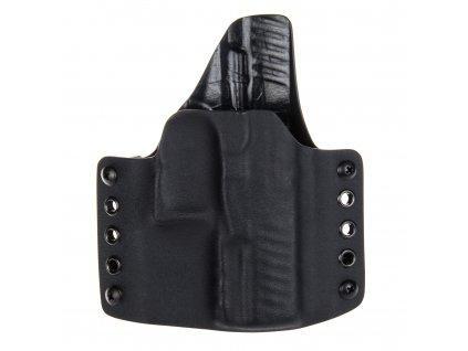 OWB - Walther PPQ M1/M2 - vnější kydexové pouzdro - poloviční sweatguard - černá/černá