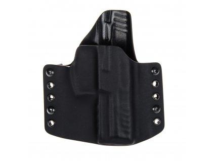 OWB - Heckler & Koch P30 - vnější kydexové pouzdro - poloviční sweatguard - černá/černá