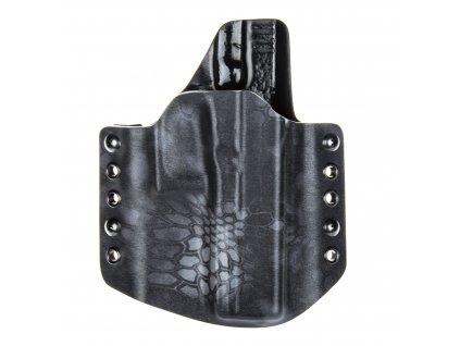 OWB - Glock 17/22/31 - vnější kydexové pouzdro - poloviční sweatguard - kryptek typhon/černá