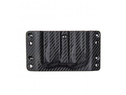 Kydexové pouzdro na zásobníky CZ 75 TS Orange bez sweatguardu - vnější, carbon/černá