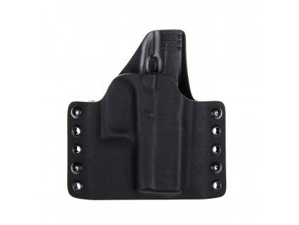 OWB - Glock 43/43X - vnější kydexové pouzdro - poloviční sweatguard - černá/černá
