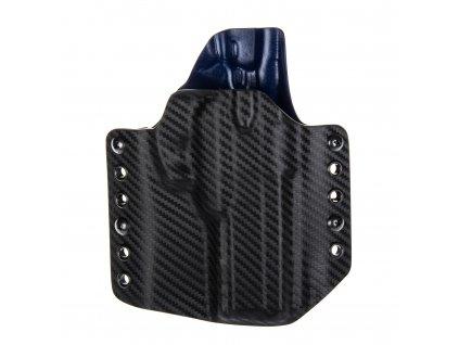 Kydexové pouzdro na zbraň CZ 75 SP-01 Shadow - vnější, carbon/police modrá
