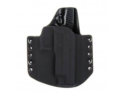 OWB - SIG Sauer P226 s railem - vnější kydexové pouzdro - poloviční sweatguard - černá/černá