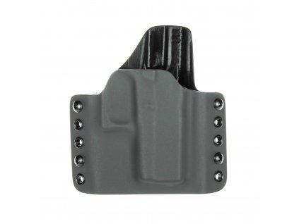 OWB - Glock 43/43X - vnější kydexové pouzdro - poloviční sweatguard - tmavě šedá/černá