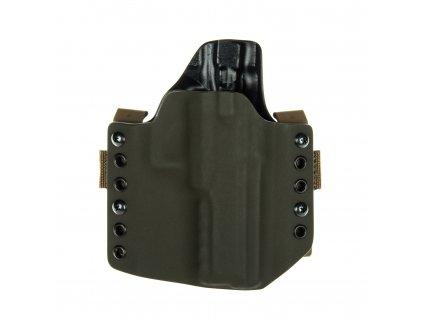 OWB - CZ 75 SP-01 Phantom - vnější kydexové pouzdro - poloviční sweatguard - olivová/černá