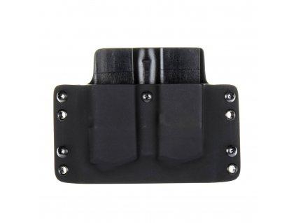 OWB - Glock 21 - vnější kydexové pouzdro na 2 zásobníky - plný sweatguard - černá/černá