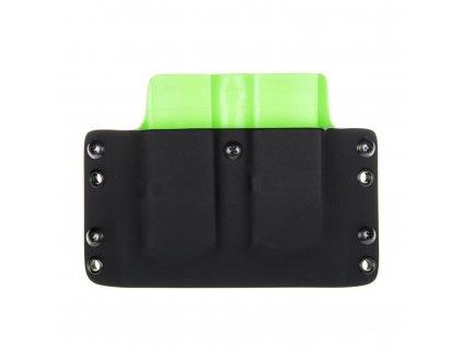 OWB - Glock 21 - vnější kydexové pouzdro na 2 zásobníky - plný sweatguard - černá/zombie zelená