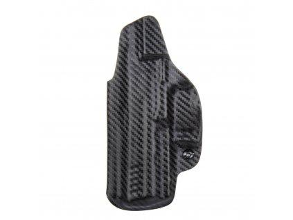 Kydexové pouzdro na zbraň Heckler & Koch P30 se sweatguardem a nastavením svoru - vnitřní, carbon