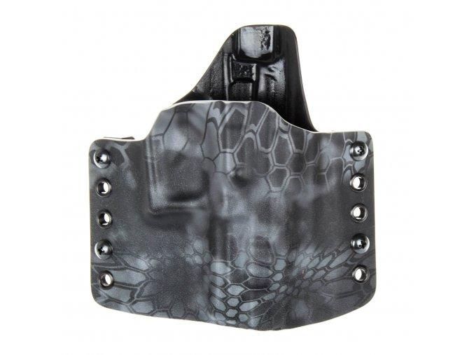 Kydexové pouzdro na zbraň Grand Power P1 - vnější, kryptek typhon/černá