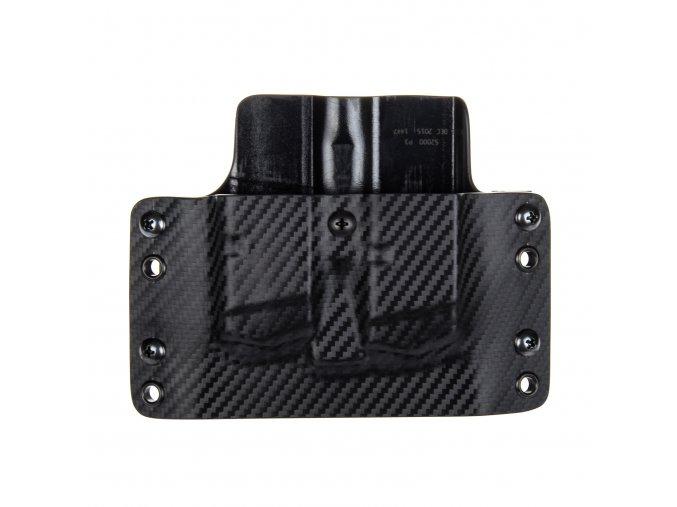 Kydexové pouzdro na zásobníky Glock 17/22/31 - vnější, carbon/černá
