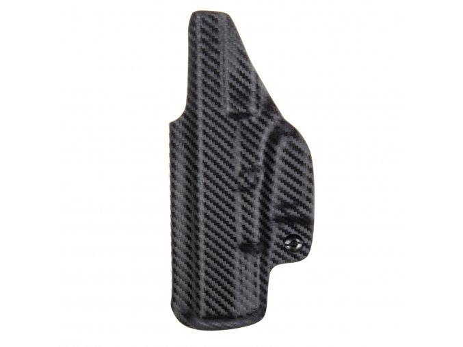 Kydexové pouzdro na zbraň Glock 19/23/32 se sweatguardem a nastavením svoru - vnitřní, carbon