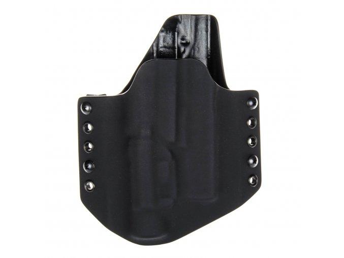 Kydexové pouzdro na zbraň Glock 19/23/32 se svítilnou Streamlight TLR-1 - vnější, černá