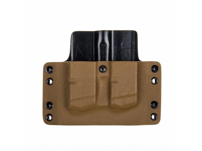 Kydexové pouzdro na zásobníky Glock 17/22/31 - vnější, coyote hnědá/černá