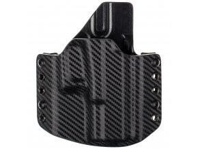 Kydexové pouzdro na zbraň Glock 19/23/32 - vnější, carbon/černá