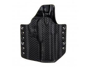 Kydexové pouzdro na zbraň CZ 75 SP-01 Shadow - vnější, carbon/černá