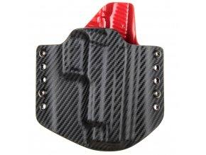 Kydexové pouzdro na zbraň SIG Sauer P226 se sweatguardem - vnější, carbon/červená