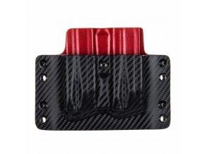 Kydexové pouzdro na zásobníky Heckler & Koch SFP9 (VP9) - vnější, carbon/červená