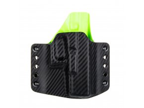 Kydexové pouzdro na zbraň Glock 19/23/32 - vnější, carbon/zombie zelená