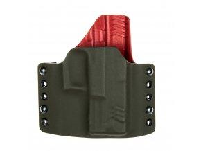 """Kydexové pouzdro na zbraň Springfield XDM 3.8"""" - vnější, olivová/červená"""