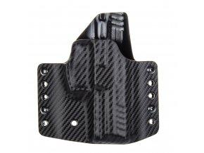 Kydexové pouzdro na zbraň Heckler & Koch SFP9 (VP9) - vnější, carbon/černá