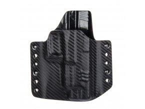 """Kydexové pouzdro na zbraň Springfield XDM 4.5"""" - vnější, carbon/černá"""