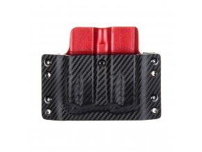 Kydexové pouzdro na zásobníky CZ 75 B - vnější, carbon/červená