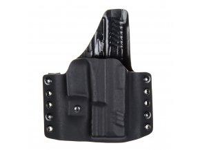 """Kydexové pouzdro na zbraň Springfield XDM 3.8"""" se sweatguardem a nastavením svoru - vnější, černá"""