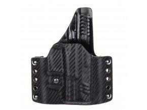 """Kydexové pouzdro na zbraň Springfield XDM 3.8"""" se sweatguardem a nastavením svoru - vnější, carbon/černá"""