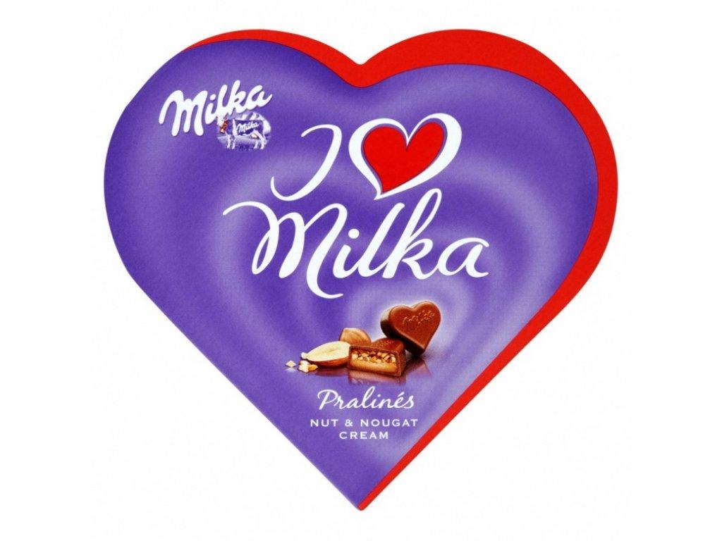 Milka - dárek ke květině